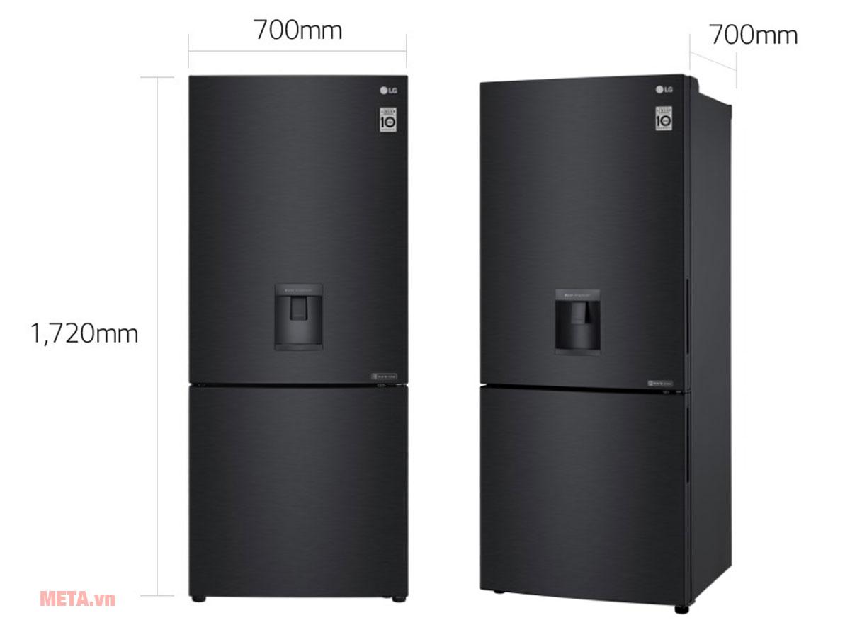 Kích thước tủ lạnh LG Inverter GR-D405MC
