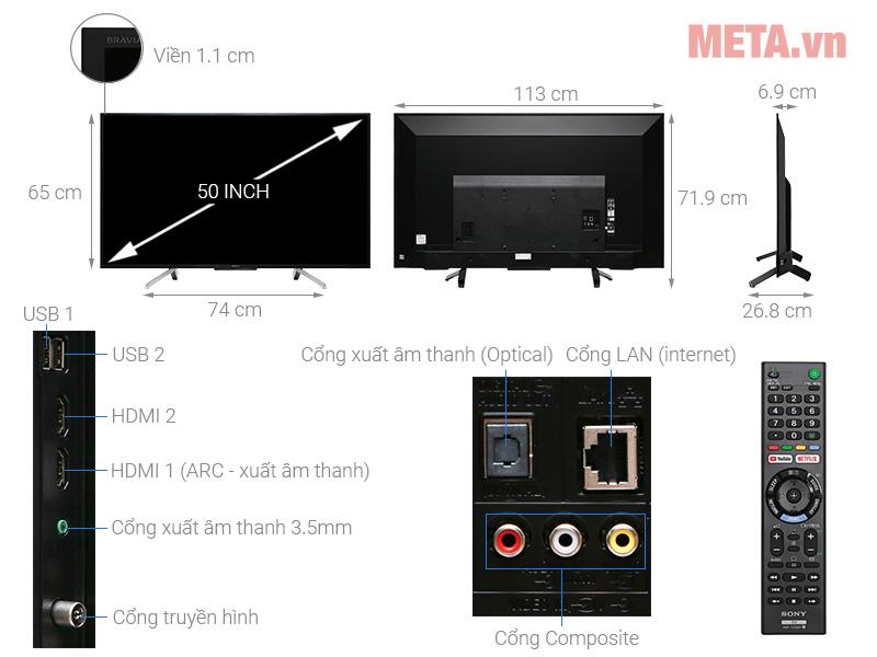 Smart Tivi Sony 50 inch KDL-50W660G