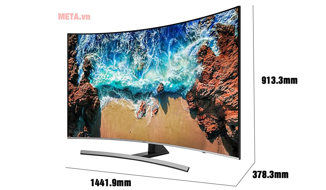 Smart Tivi Samsung 4K UA65NU8500KXXV có màn hình 65 inch