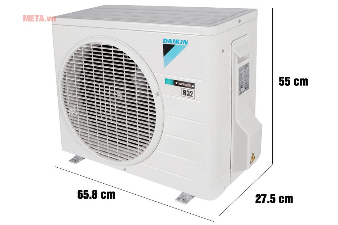 Kích thước cục nóng điều hòa Daikin FTHF25RAVMV/RHF25RAVMV