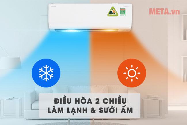 Điều hòa Daikin FTHF25RAVMV/RHF25RAVMV 2 chiều nóng lạnh