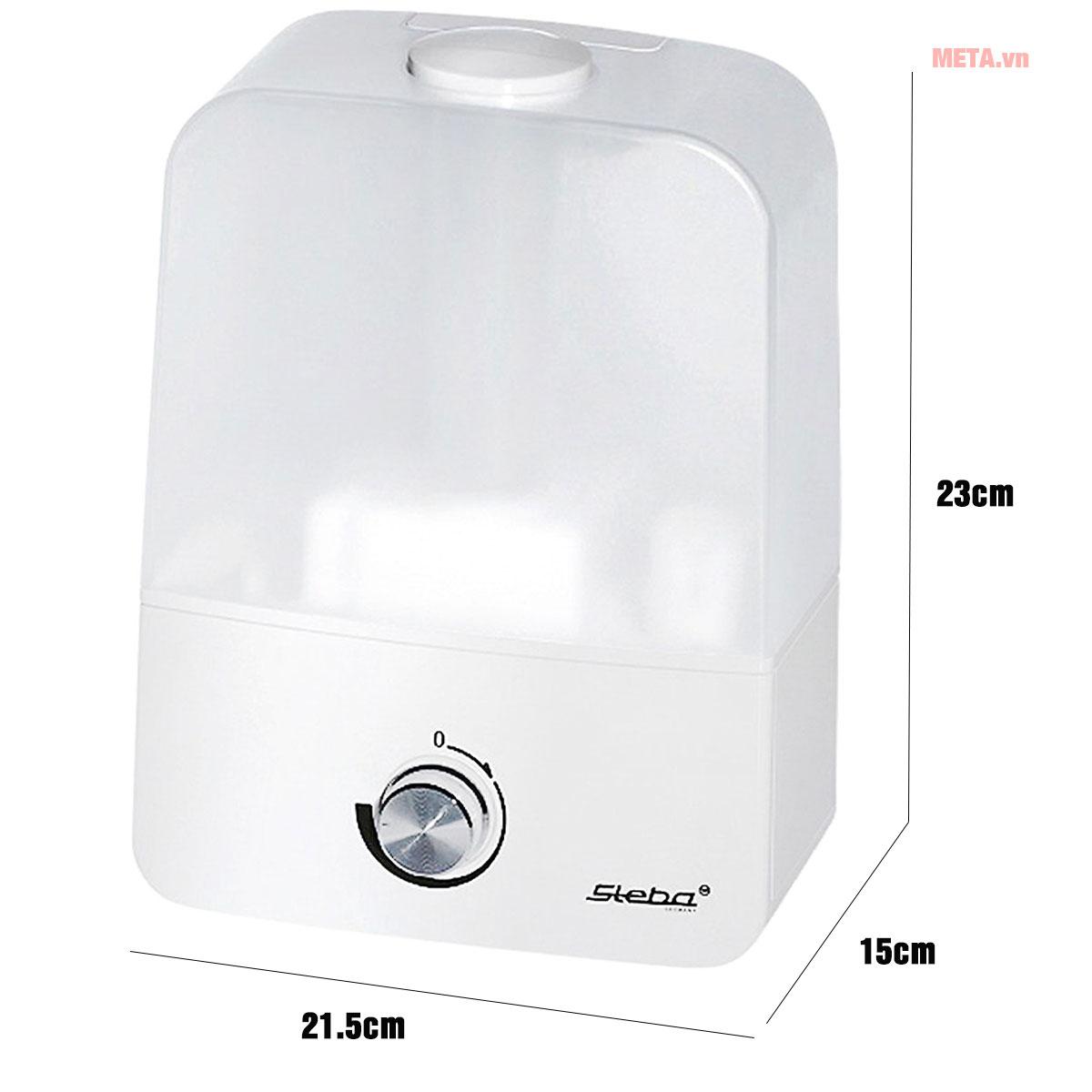 Kích thước máy tạo ẩm Steba LB9