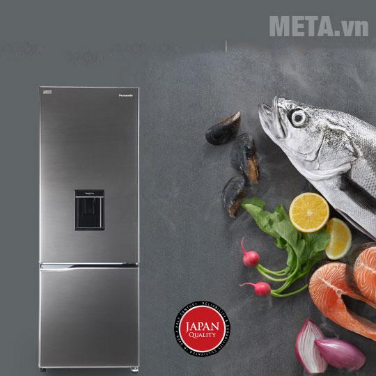 Tủ lạnh Panasonic Inverter NR-BV320WSVN thiết kế hiện đại, sang trọng