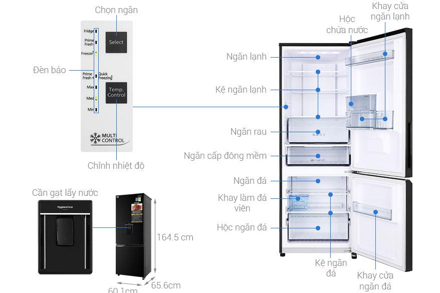 Cấu tạo tủ lạnh Panasonic NR-BV320WKVN