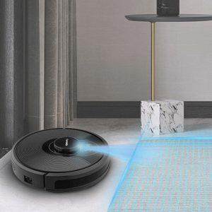 Robot hút bụi trên thảm