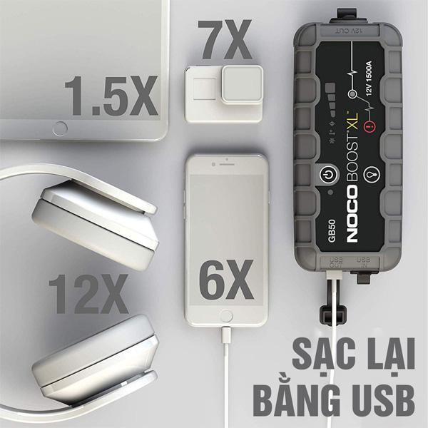 Pin dự phòng kiêm bộ khởi động xe Noco GB50