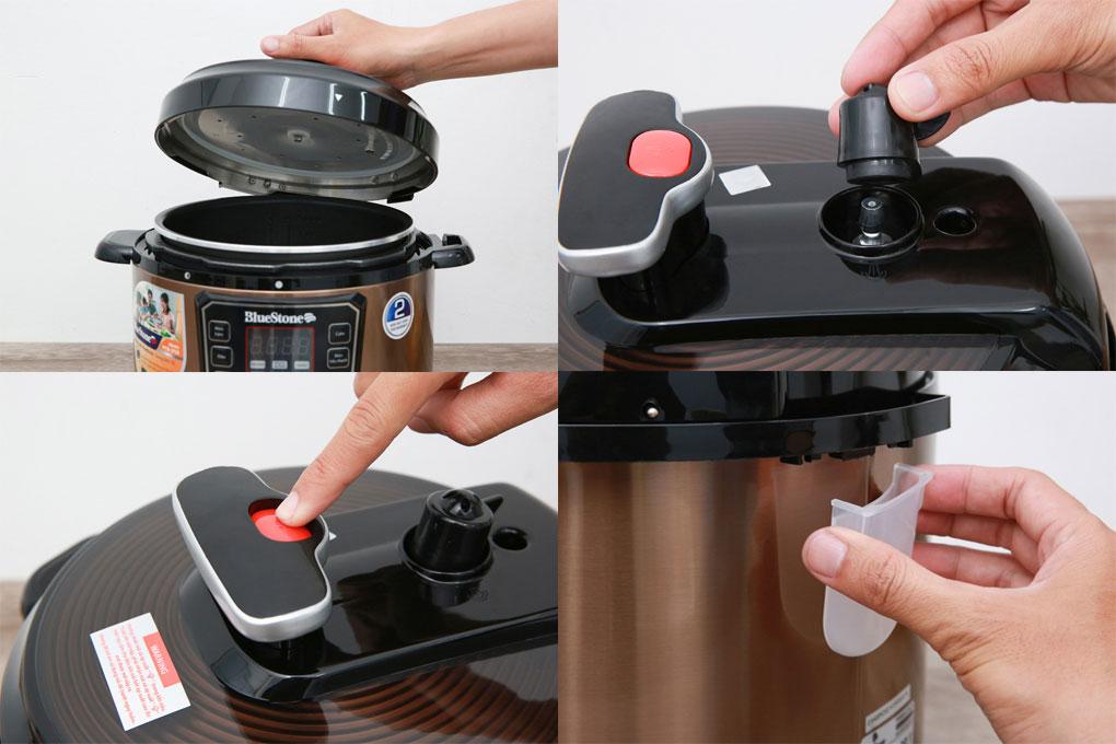 Các thao tác sử dụng nồi áp suất Bluestone PCB-5753