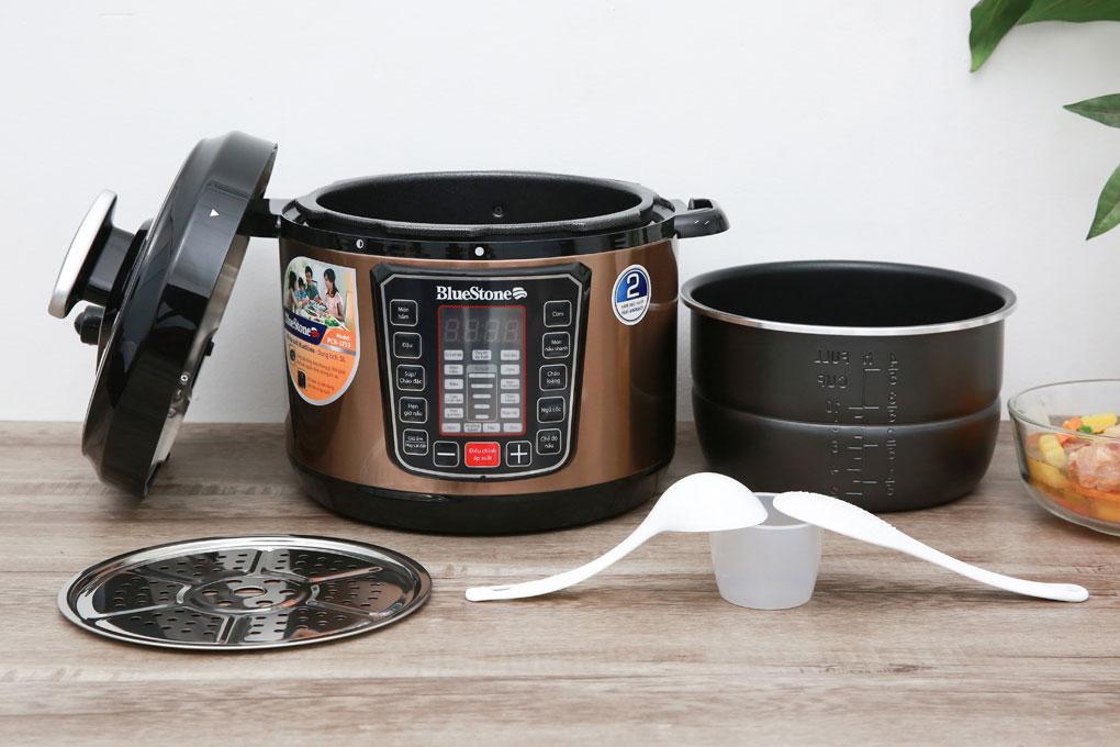 Nồi áp suất Bluestone PCB-5753 đa năng nấu được nhiều món ngon