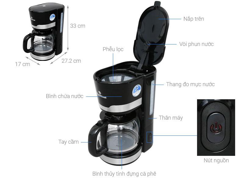 Chi tiết cấu tạo máy lọc cà phê Bluestone