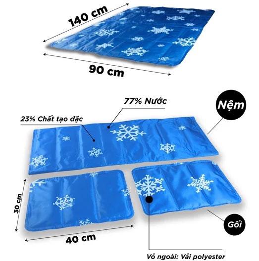 Chi tiết cấu tạo và chất liệu của nệm gel