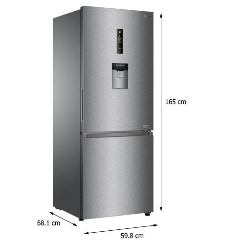 Kích thước tủ lạnh Aqua AQR-IW338EB (SW)