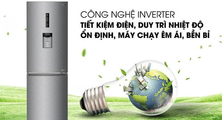 Tủ lạnh Aqua AQR-IW338EB (SW) với công nghệ Inverter tiết kiệm điện