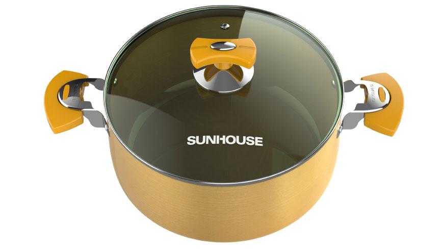 Nắp kính trong suốt giúp quan sát quá trình nấu nướng thuận tiện hơn