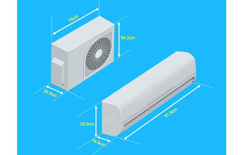 Kích thước cục nóng, cục lạnh điều hòa Panasonic CU/CS-Z9VKH-8