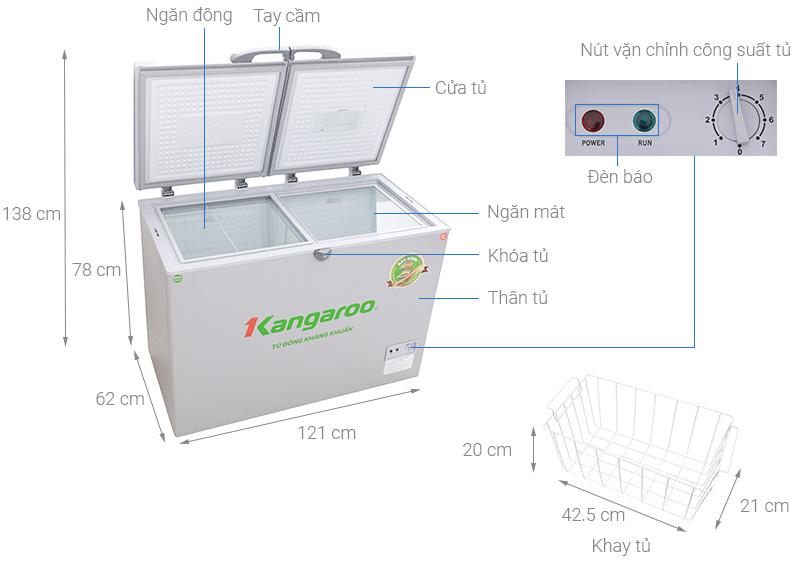 Tủ đông Kangaroo KG 388C2