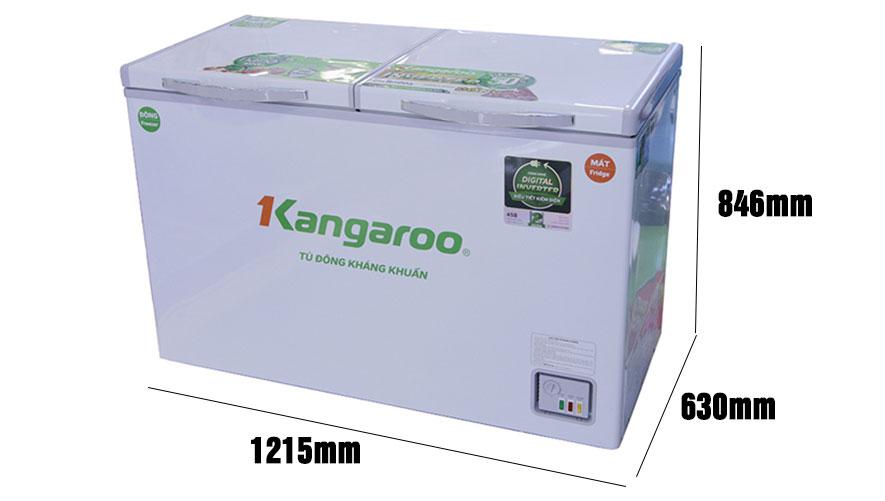 Kích thước tủ đông Kangaroo KG320IC2