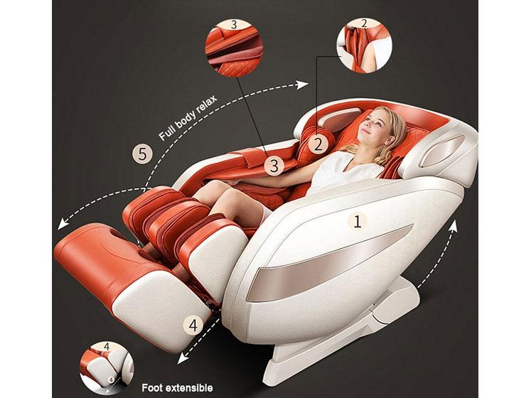 Cấu tạo ghế massage Sakura 5D Pro