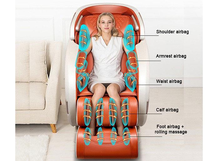 Ghế massage tích hợp 52 túi khí