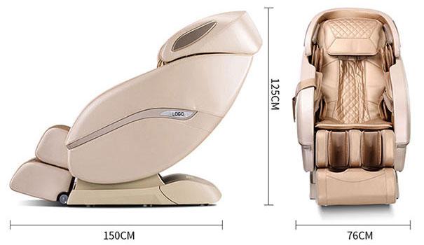 Kích thước ghế massage Sakura 668D