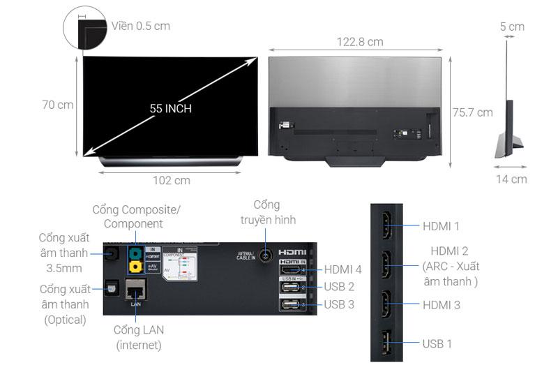 Cấu tạo của Smart Tivi OLED LG
