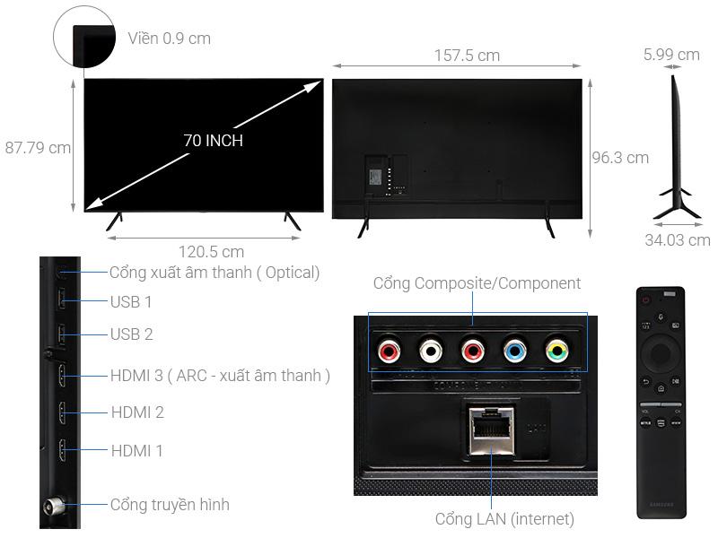 Smart Tivi Samsung UA70RU7200KXXV