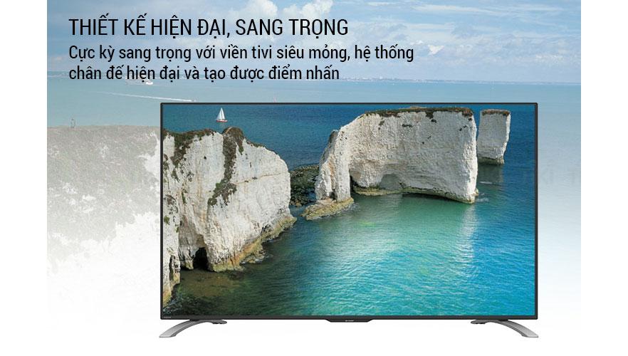 Tivi Sharp LC-50LE580X-BK Full HD được thiết kế siêu mỏng