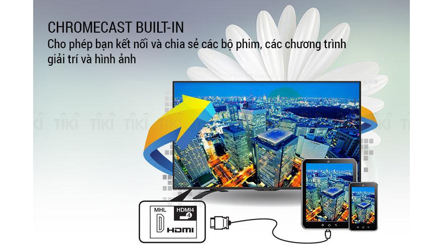 Chromecast built-in cho phép bạn kết nối và chia sẻ các bộ phim