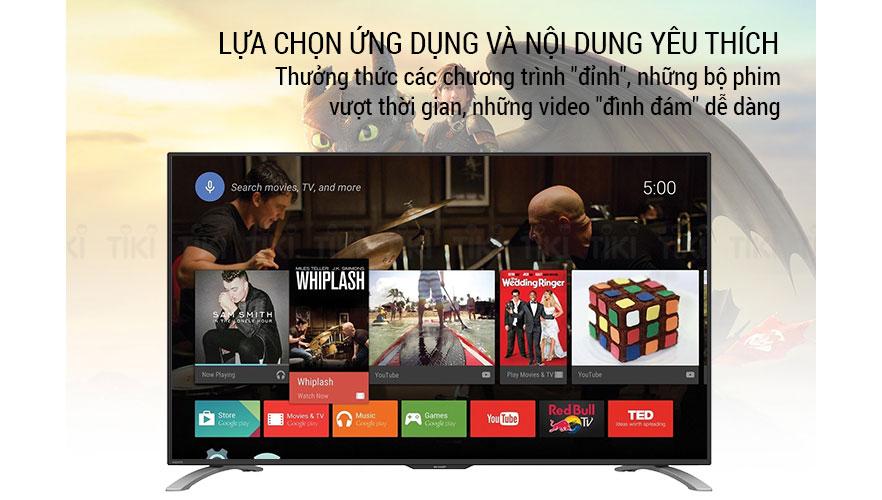 Tha hồ lựa chọn ứng dụng và nội dung yêu thích với TV Sharp