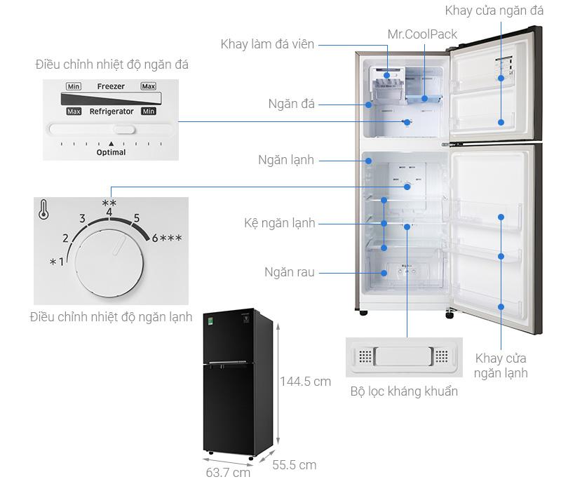 Tủ lạnh Samsung RT20HAR8DBU/SV