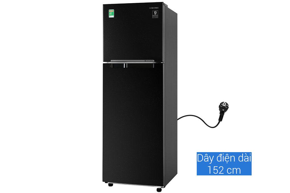 Tủ lạnh Samsung RT25M4032BU/SV thiết kế với màu đen sang trọng