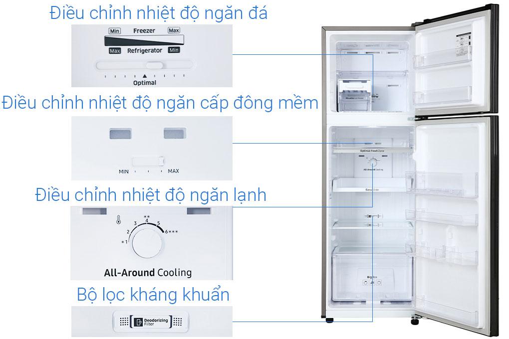 Cấu tạo tủ lạnh Samsung RT25M4032BU/SV