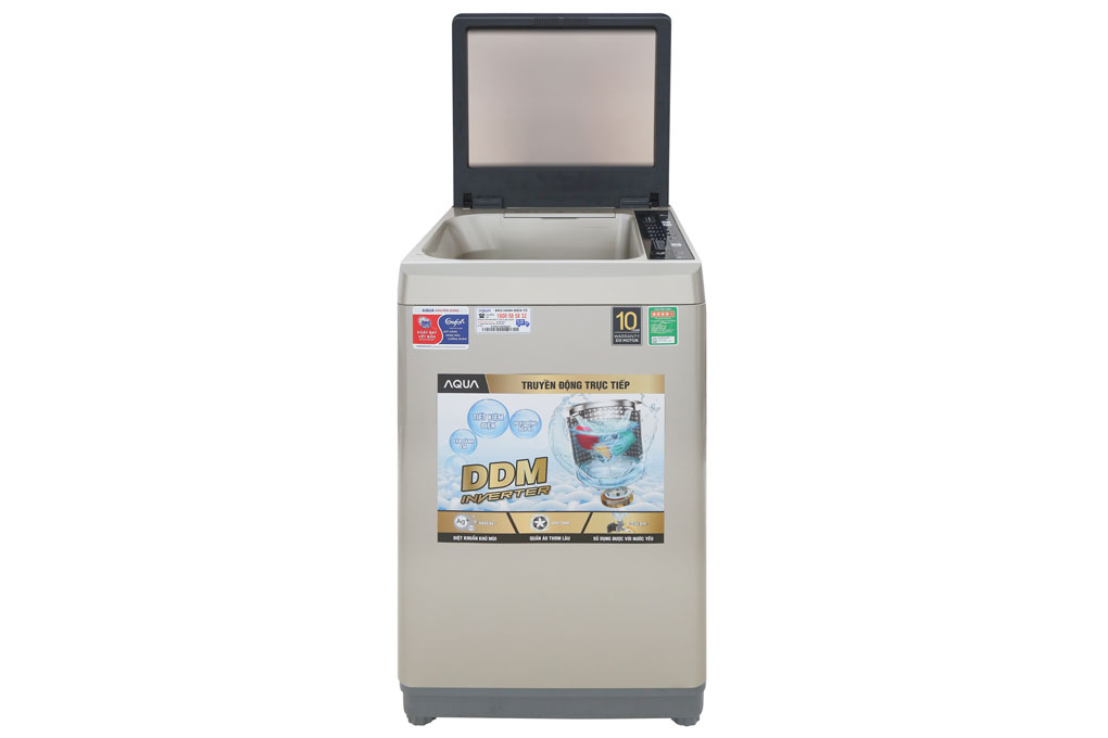 Máy giặt lồng đứng Aqua Inverter 9kg AQW-D90CT(N) thiết kế đơn giản
