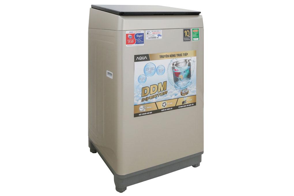 Máy giặt lồng đứng Aqua Inverter 9kg AQW-D90CT(N) có khối lượng giặt 9kg