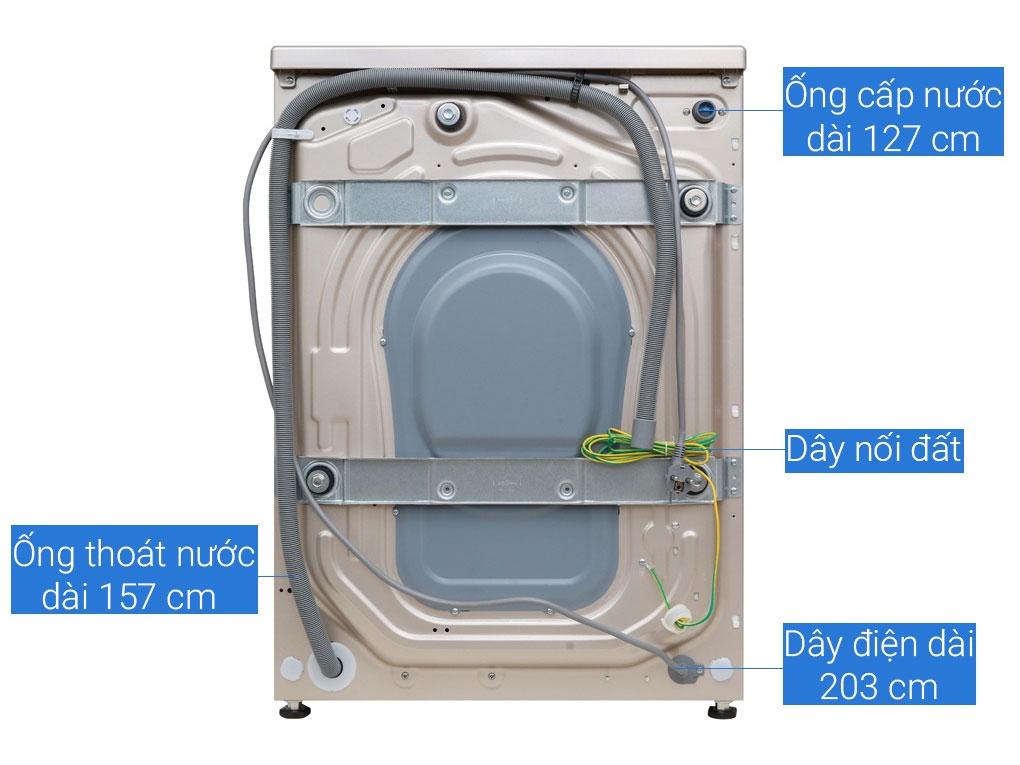 Cấu tạo phía sau máy giặt Aqua