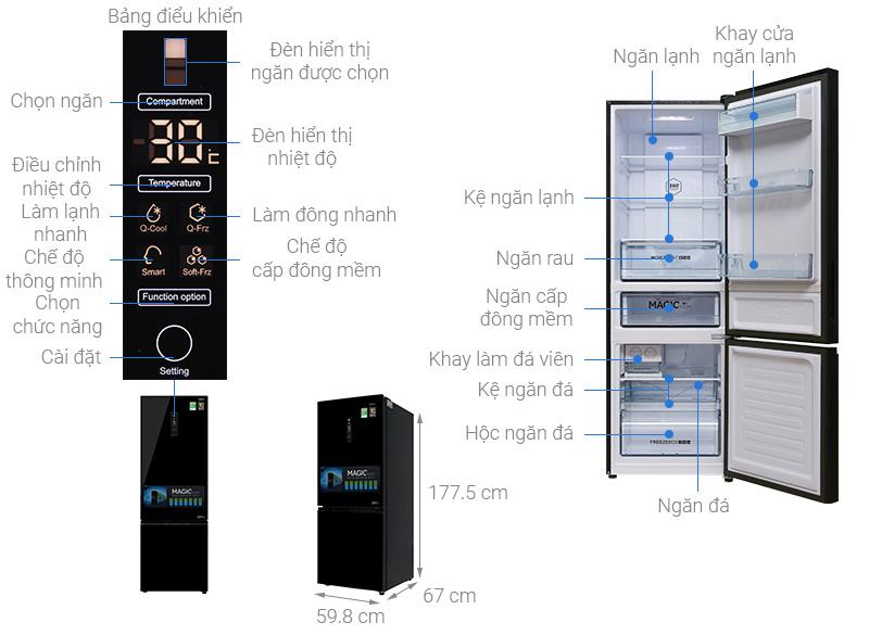 Tủ lạnh Aqua AQR-IG378EB