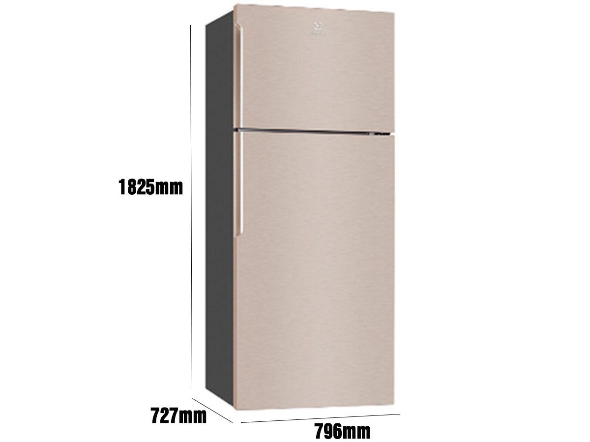 Kích thước tủ lạnh Electrolux ETE5720B-G