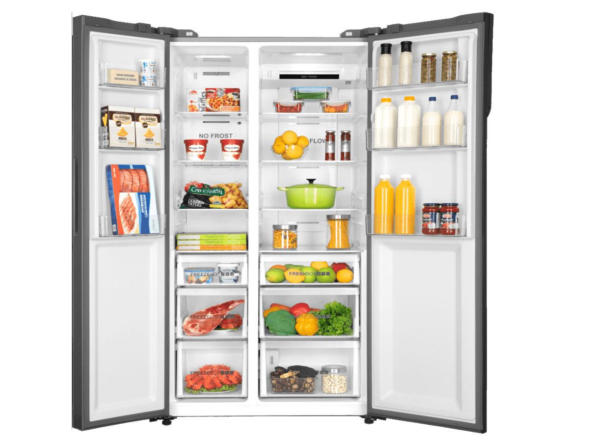 Tủ lạnh Side By Side Aqua AQR-IG696FS(GD) có dung tích lớn