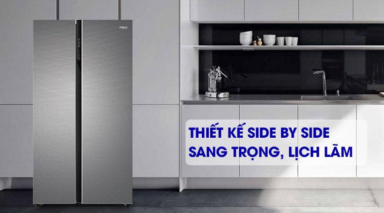 Tủ lạnh thiết kế side by side sang trọng, lịch lãm