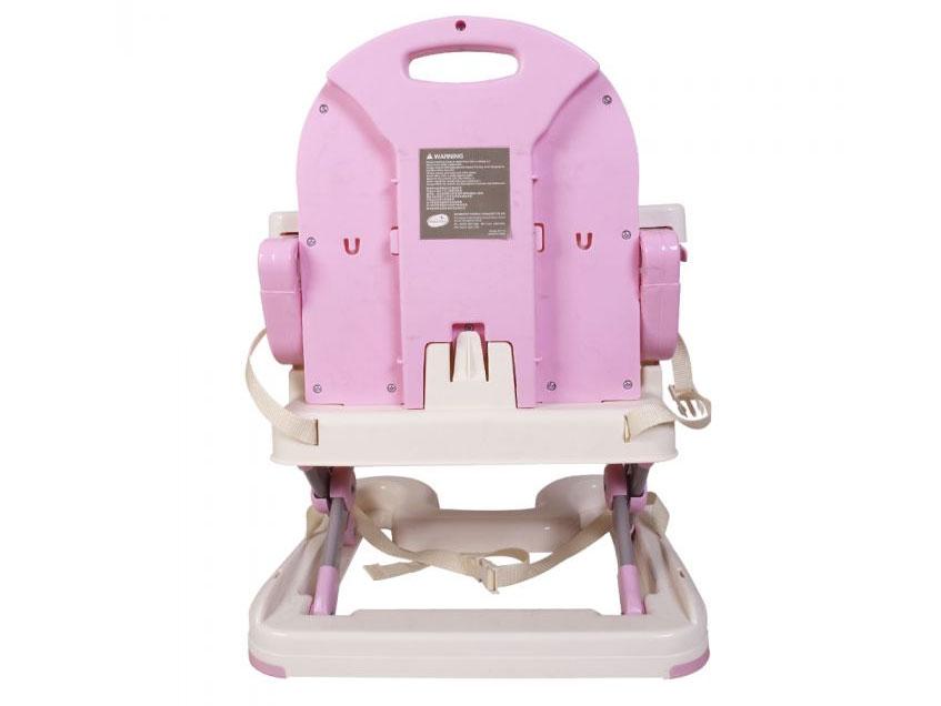 Ghế ăn Mastela màu hồng 07112 có thể linh hoạt điều chỉnh