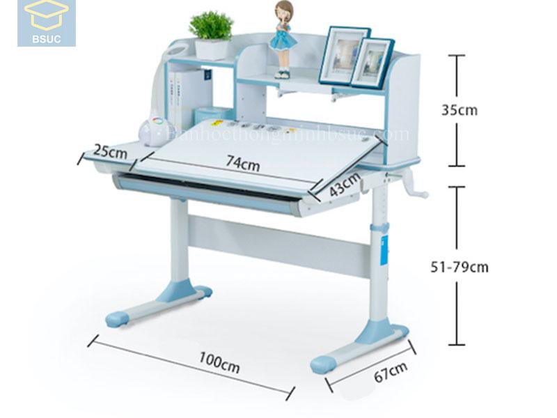 Kích thước bàn học sinh chống gù Bsuc