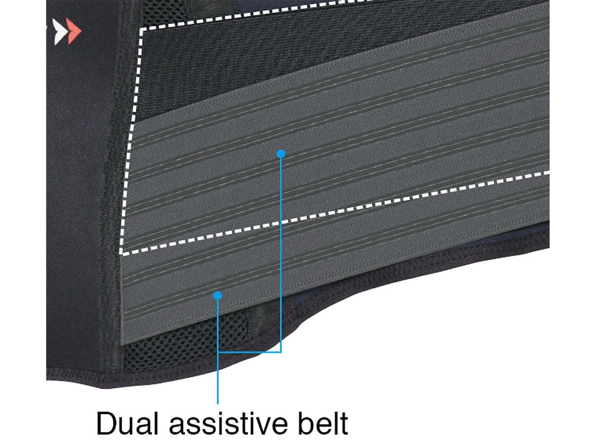 Phần được làm bằng nhựa EVA, giúp tái tạo hình dạng của lưng dưới