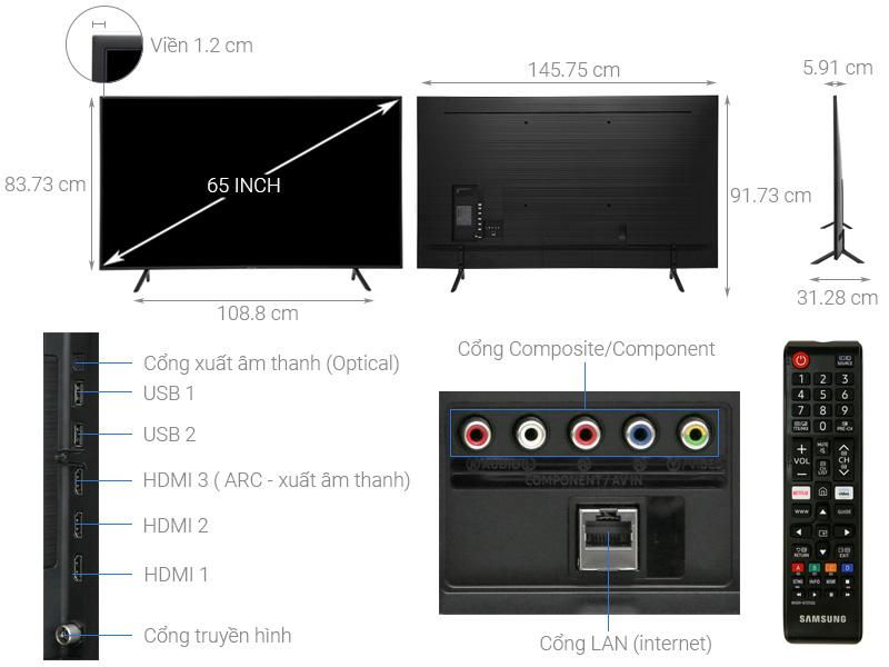 Smart Tivi Samsung UA65RU7100KXXV