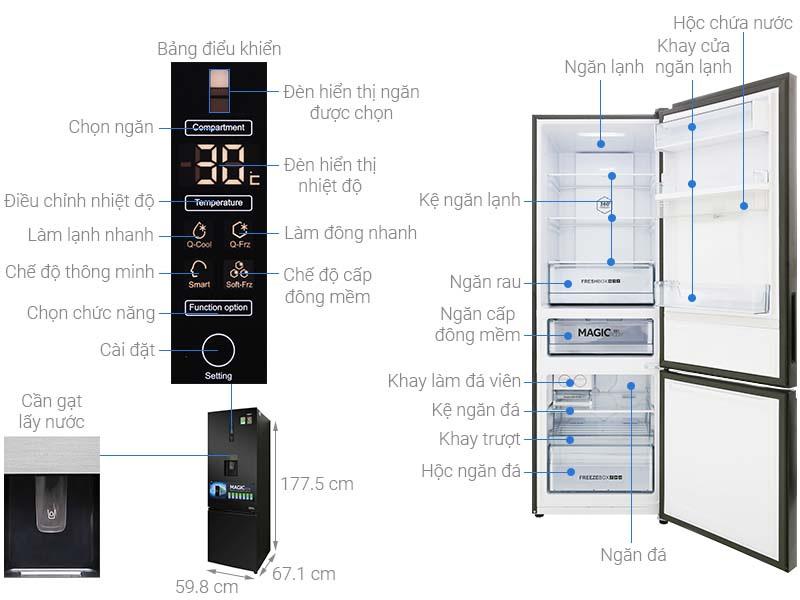 Tủ lạnh Aqua AQR-IW378EB