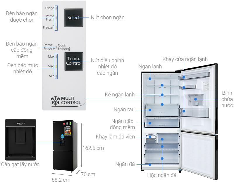 Tủ lạnh Panasonic NR-BX410WKVN