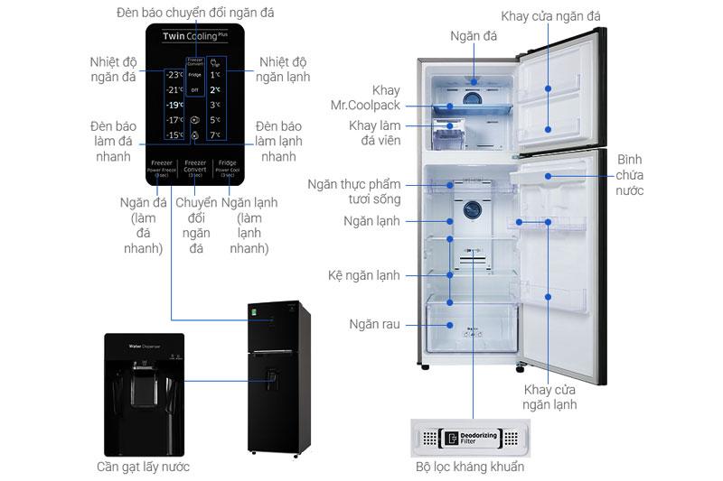 Cấu tạo của tủ lạnh Samsung
