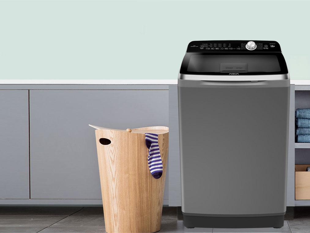 Máy giặt Aqua thiết kế cửa trên truyền thống