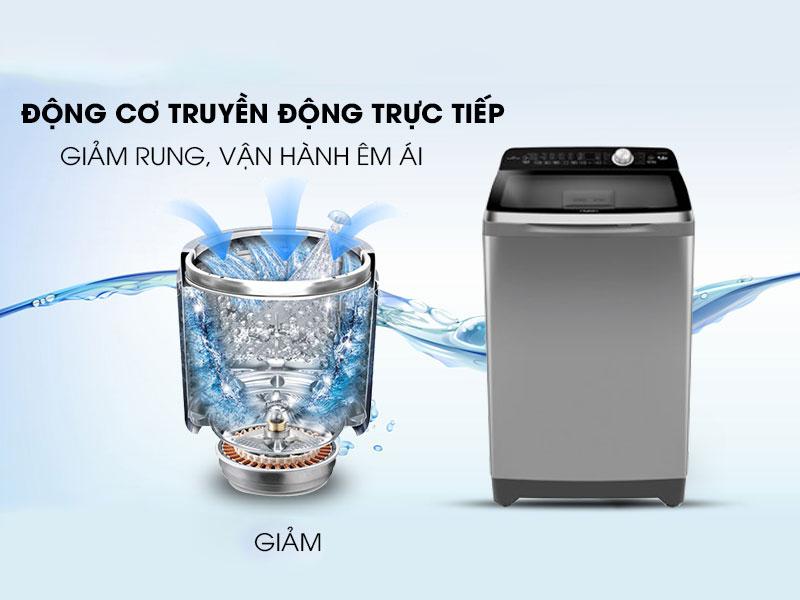 Máy giặt vận hành êm với động cơ truyền động trực tiếp