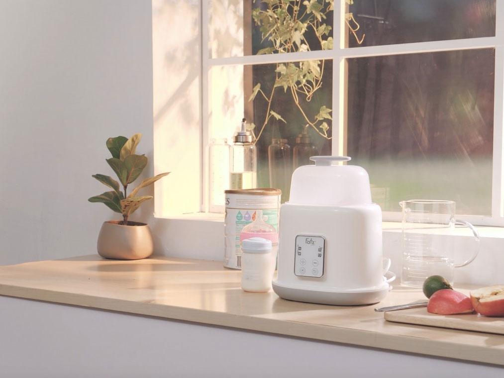 Máy hâm sữa tiệt trùng 2 bình điện tử Duo2 FB3223SL tích hợp 4 chức năng