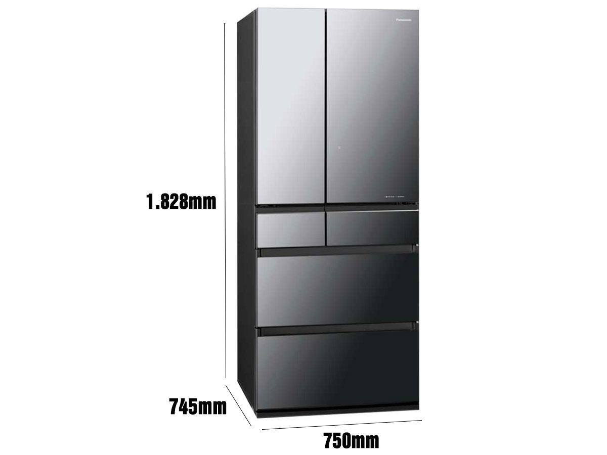 Kích thước tủ lạnh Panasonic NR-F654GT-X2