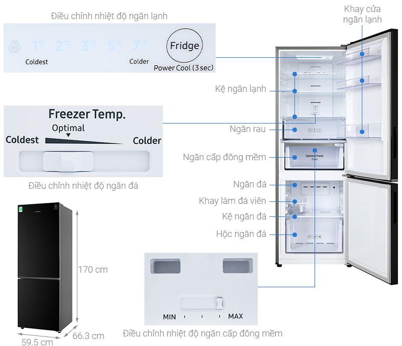 Tủ lạnh Samsung RB30N4010BU/SV